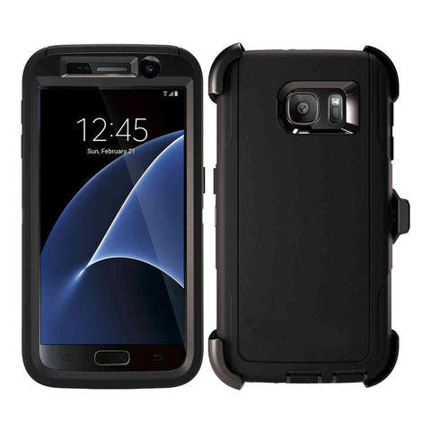"Defender Style Rugged Shockproof case for Samsung Galaxy S7 (5.1"") or S7 Edge (5.5"")"