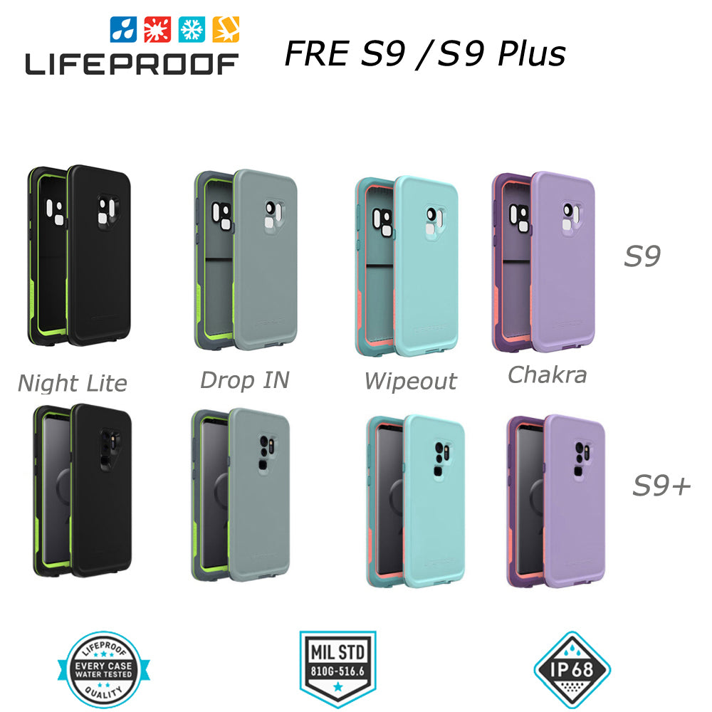 cheaper 1644c aef8b LifeProof Fre WaterProof DropProof Case for Samsung Galaxy S9, S9+, S8,  S8+, S7, & S5
