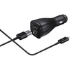 Samsung Dual Port 5v 9v In Car Fast Charger with Cable