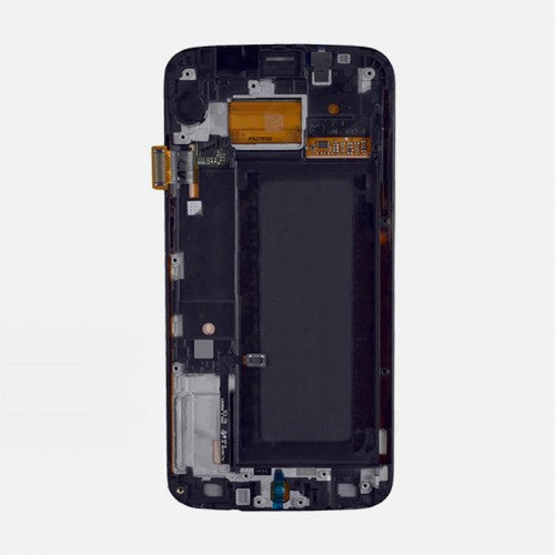 Samsung Galaxy S6 Edge SM-G925I LCD and Touch Screen Assembly with Frame [Blue]