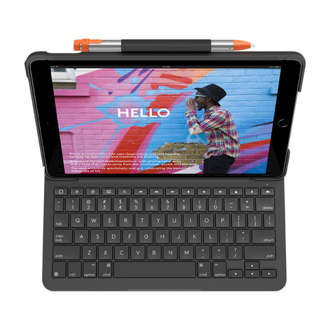 Logitech Slim Folio Bluetooth keyboard Case For iPad (7th gen) Graphite