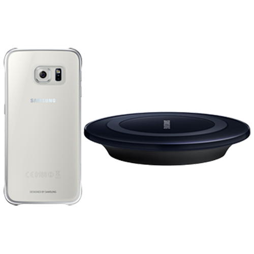 Samsung Galaxy s6 Wireless starter kit with wireless charging station & Clear Cover