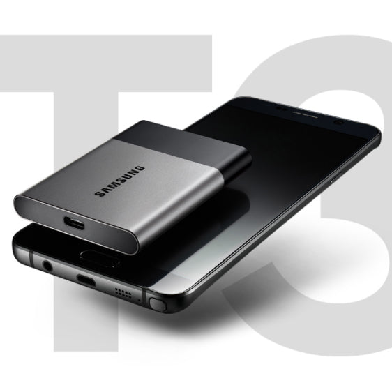 Samsung Portable SSD T3 250GB / 500GB Pocket Drive USB3.1 Type-C Up to 4x faster