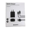 Sony Quick UCH12W 5v 9v 12v Fast Charger Xperia Smartphone Rapid Charger n Cable