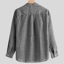 Load image into Gallery viewer, Mens Long Sleeves Simple Striped Blouses&shirts