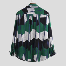 Load image into Gallery viewer, Mens Long Sleeves Lapel Printed Blouses&shirts