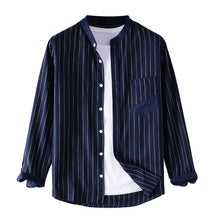 Load image into Gallery viewer, Mens Fashion Striped Casual Long Sleeve Shirt