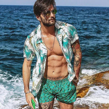 Load image into Gallery viewer, Mens Fashion Beach Printed Short Sleeves Blouse&shirt
