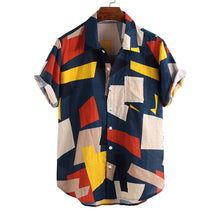 Load image into Gallery viewer, Casual Geometric Printed Short Sleeves Blouses&shirts