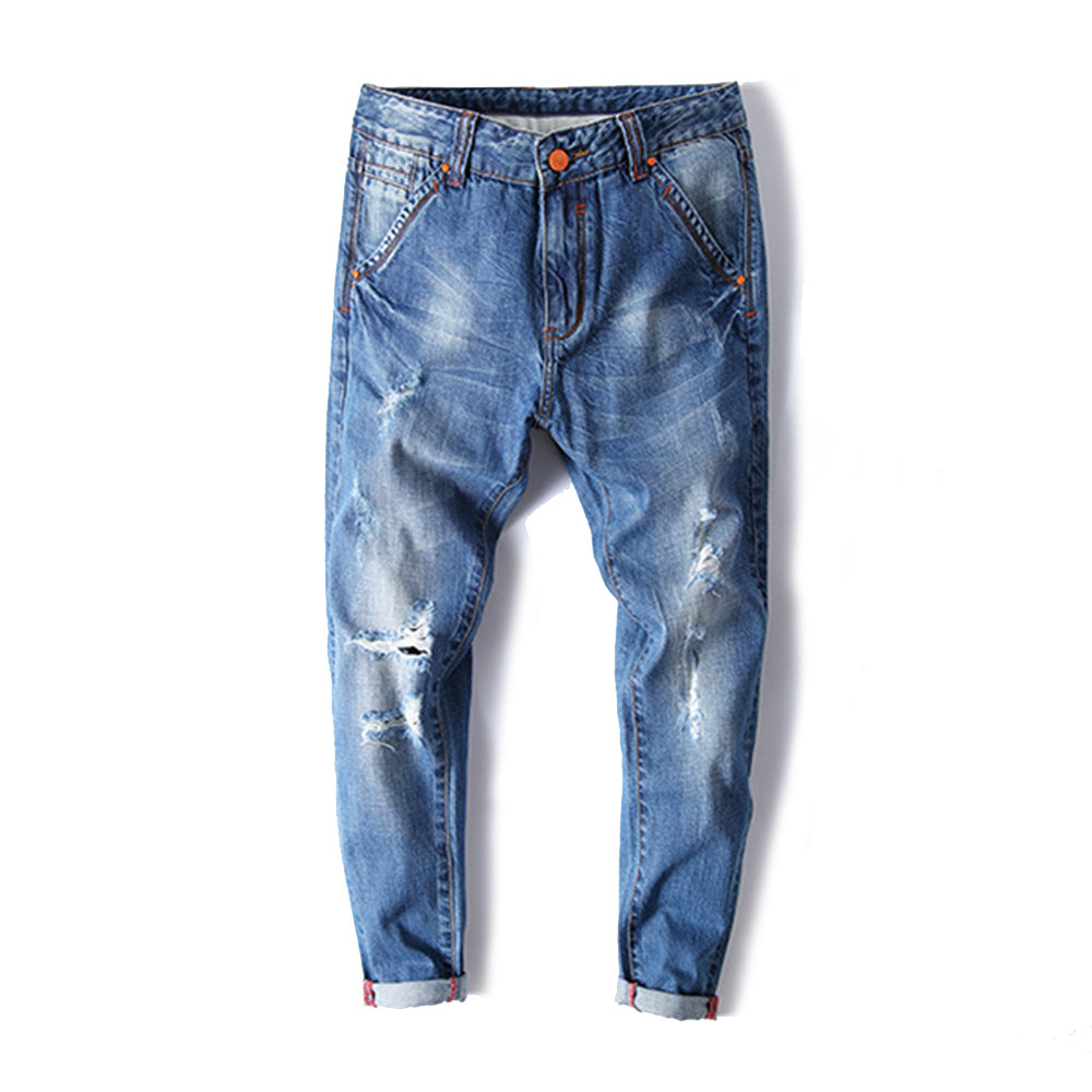 Harlan Style Straight Leg Ninth Denim Pants