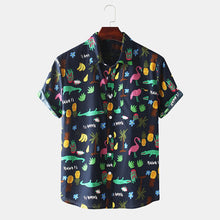 Load image into Gallery viewer, Mens Lovely Funny Tropical Cartoon Short Sleeve Shirts