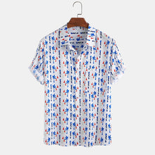 Load image into Gallery viewer, Mens Funny Printed Chest Pocket Short Sleeve Shirts