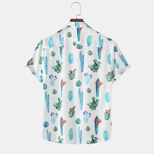 Load image into Gallery viewer, Mens Tropical Holiday Printed Casual Short Sleeve Shirts