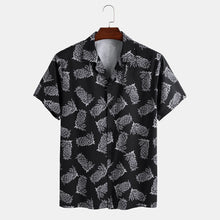 Load image into Gallery viewer, Mens Pineapple Printed Casual Short Sleeve Shirts Suit