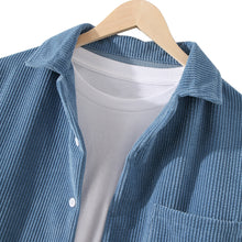 Load image into Gallery viewer, Mens Designer Pure Color Pocket Corduroy Casual Shirts