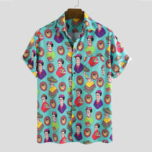 Load image into Gallery viewer, Funny Animals Cartoon Printed Causal Loose Short Sleeve Shirts