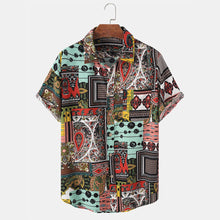 Load image into Gallery viewer, Mens Tribal Graphics Lapel Ethnic Style Short Sleeve Shirt