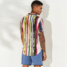 Load image into Gallery viewer, Men Summer Beach Holiday Printed Loose Blouses&shirts