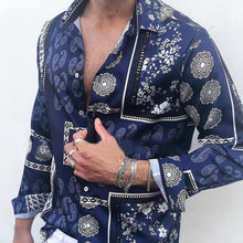 Load image into Gallery viewer, Men Ethnic Style Casual Printed Sleeves Blouses&shirts