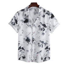 Load image into Gallery viewer, Mens Chinese Ink Style Printed Short Sleeve Shirts