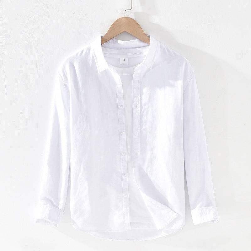 Pure Cotton Casual Square Collar Long Sleeves