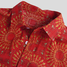 Load image into Gallery viewer, Printed Holiday Casual Short Sleeve Shirt