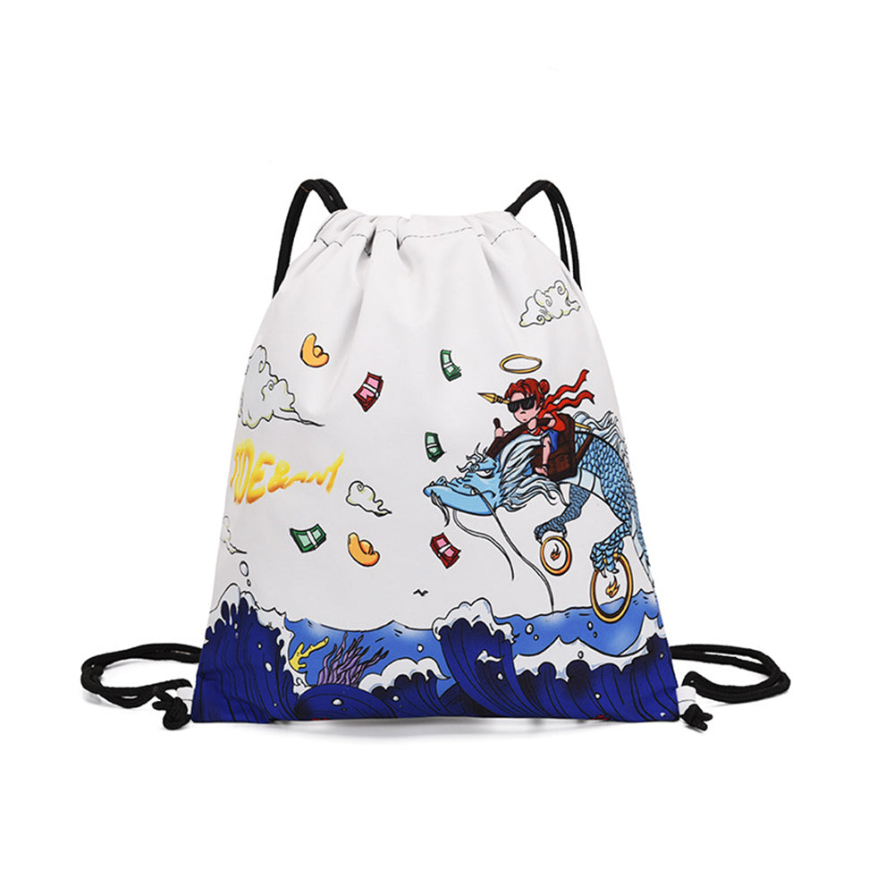 Holiday Dry Wet Depart Shoulder Drawstring Casual Beach Bag
