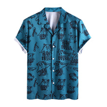 Load image into Gallery viewer, Men Funny Pictorial Printed Beach Casual Shirt