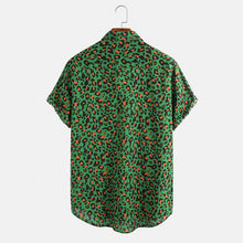 Load image into Gallery viewer, Mens Leopard Print Summer Breathable Short Sleeve Shirts