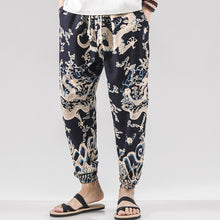 Load image into Gallery viewer, Mens Ethnic Printed Drawstring Loose Harem Pants