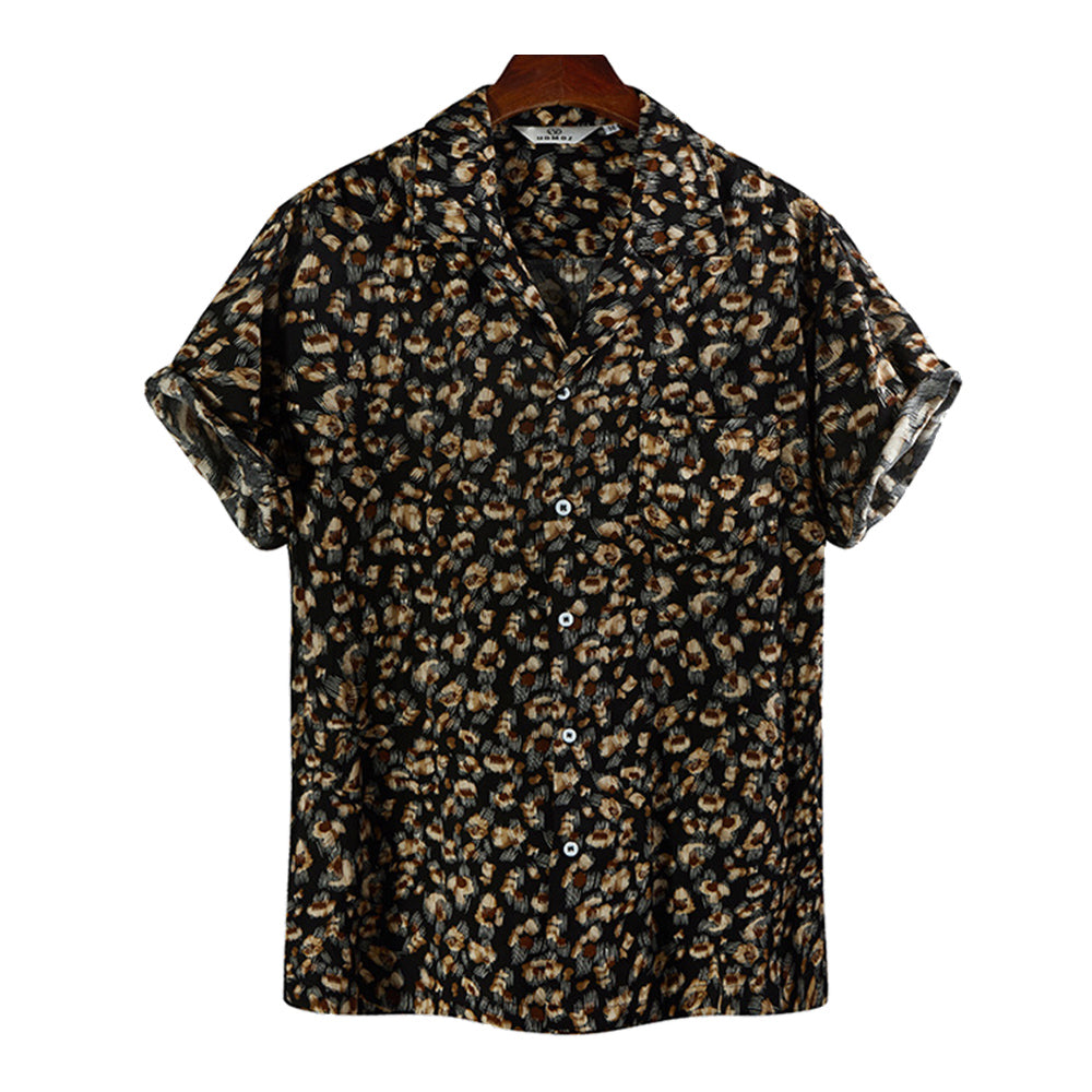 Mens Tropical Printed Short Sleeve Shirts