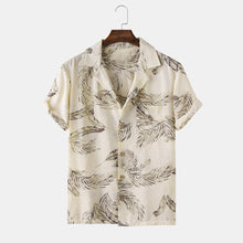 Load image into Gallery viewer, Men Resort Style Palm Leaf Causal Shirt