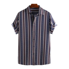 Load image into Gallery viewer, Men Ethnic Striped Printed Holiday Casual Shirt
