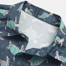 Load image into Gallery viewer, Mens Funny Turtle Cartoon Print Short Sleeve Designer Shirts