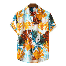 Load image into Gallery viewer, Mens Tropical & Floral Print Holiday Casual Light Short Sleeve Shirts