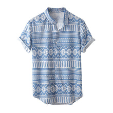 Load image into Gallery viewer, Mens Loose Printed Short Sleeves Blouses&shirts