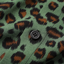 Load image into Gallery viewer, Mens Leopard Print Button Up Short Sleeve Shirts With Pocket
