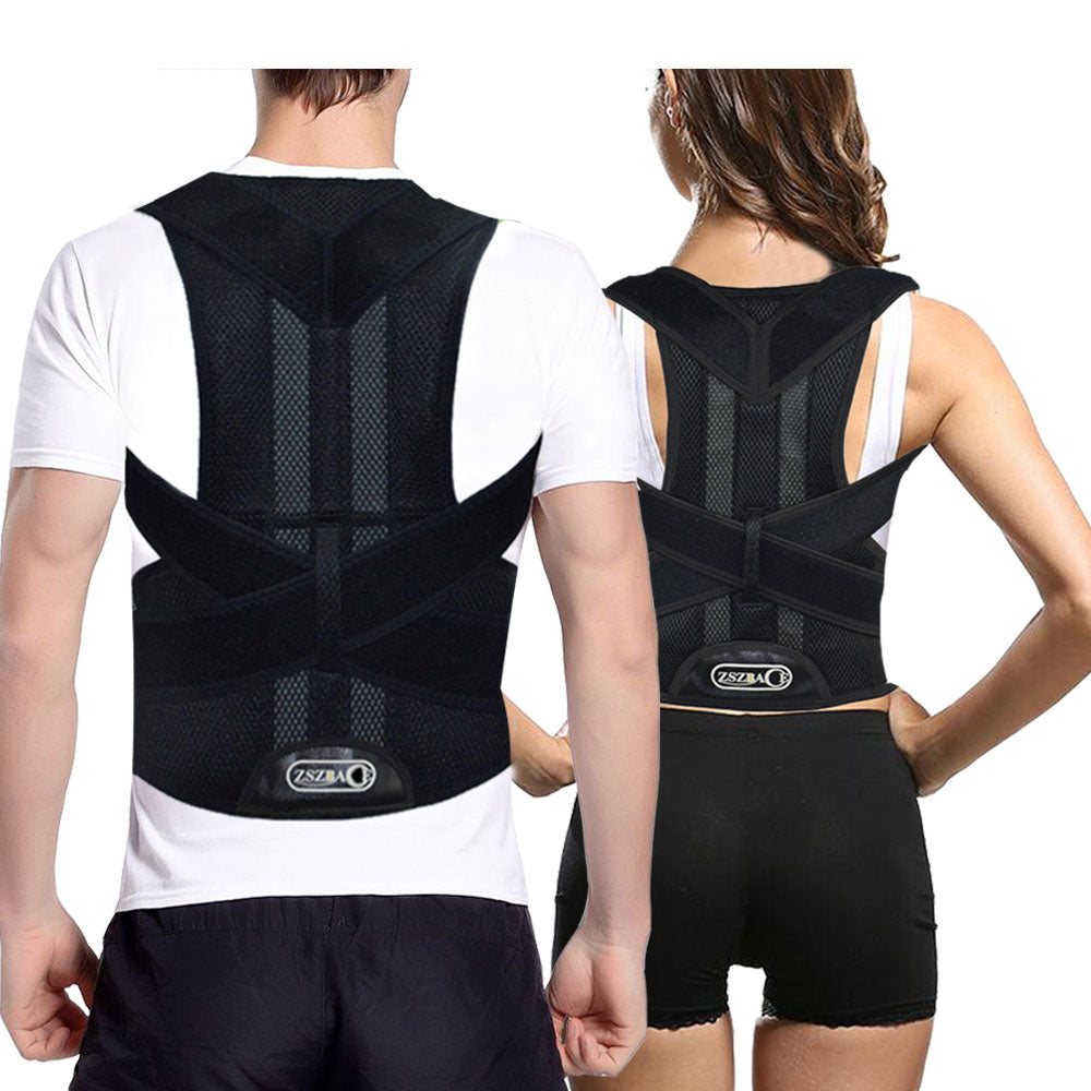 Back Brace Posture Corrector for Men - Medical Posture Brace for Women - Best Adjustable Back Corrector Provides Lumbar Support