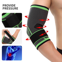 Elbow Support Brace (2 Pack), Adjustable Breathable Nylon Elastic Elbow Sleeve Brace Compression Wrap for Golf Tennis Sports Training Women Men, Elbow Pain Relief