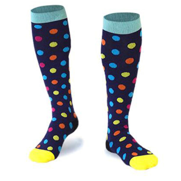 ZSZBACE Compression Socks Good For Work or Travel -Blue & Pink