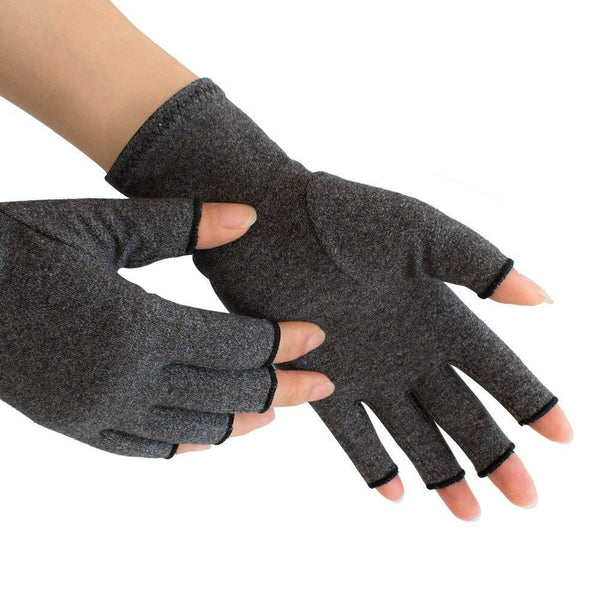 Arthritis Hand Compression Gloves – Comfy Fit, Fingerless Design, Breathable & Moisture Wicking Fabric – Alleviate Rheumatoid Pains, Ease Muscle Tension, Relieve Carpal Tunnel Ache