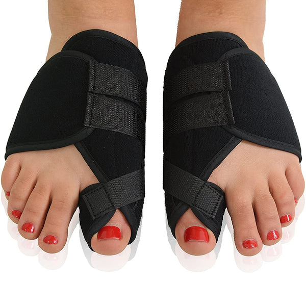 Original Nighttime Bunion Splints - 1 Pair-Stitched Velcro Bunion Correctors - Bunion Relief for Bedtime - for Men & Women