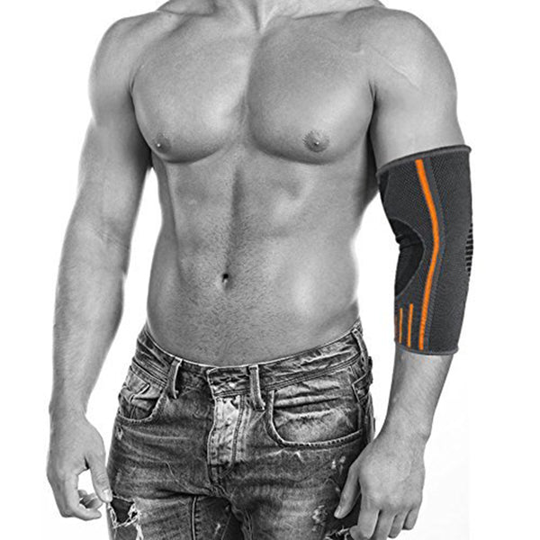 Elbow Brace Compression Sleeve Elbow Support for Weightlifting- Joint Pain, Tendonitis, Arthritis, Arm Protection, Tennis and Golfer's Elbow - Pair