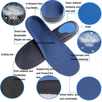 ZSZBACE Comfort Insoles For Sports And Everyday, Orthotic Foot Insole For Bow Supports, Cushioning And Painful Heel Spur