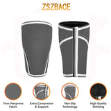 ZSZBACE Knee Sleeves - 7mm Thick Compression Knee Brace Support for Weightlifting, Powerlifting, Squats & CrossFit Training Fitness for Women and Men, 6 SIZE
