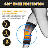 Knee Supports for Men Women - Compression Knee Sleeve for Arthritis Pain Relief Meniscus Tear, Non Slip Knee Support Brace for Running Squats Crossfit Other Sport