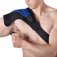 Compression Recovery Shoulder Brace - Adjustable Fit Sleeve Wrap Men Women. Relief for Shoulder Injuries, Tendonitis
