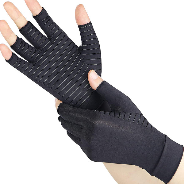 Compression Gloves with Copper for Arthritis Rheumatoid,Relief Pain and Swelling,Osteoarthritis & Tendonitis - Copper Arthritis Gloves for Women and Men