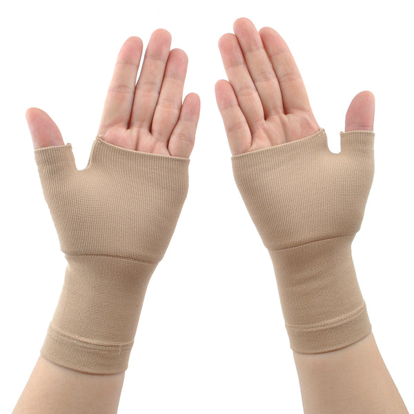 Wrist and Thumb Support - Compression Hand Sleeves- Lightweight, Breathable- Relieve Strains, Sprains, Instability, Arthritic Wrists