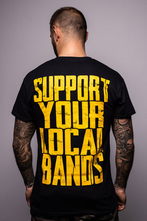 BooKings – T-Shirt Support Your Local Bands – black ♂